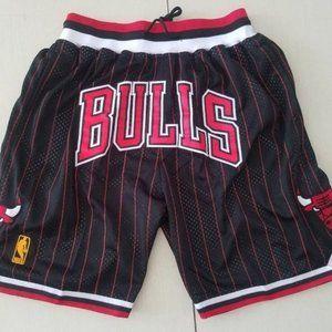 ⛺Just Don Chicago Bulls Red Stripe Swingman Sho